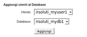 Agginta Utente al database in cPanel