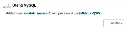 Utente e password del utente