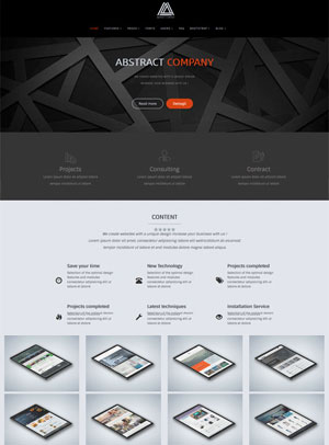 Abstract Joomla Template