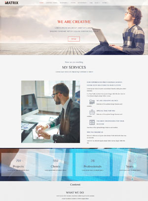 Matrix Joomla Template