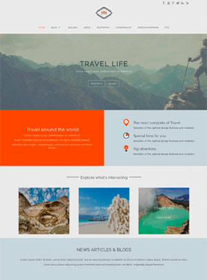Template Joomla Travel